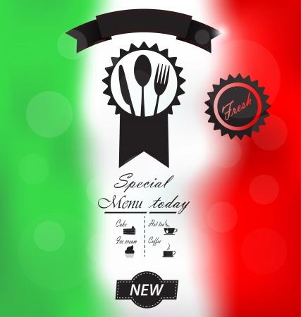 Italienska Menu affisch