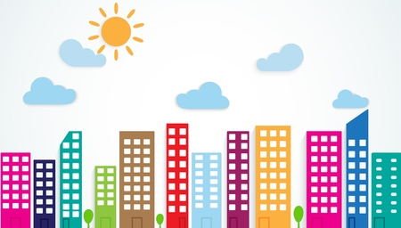multistory: colorful urban scene