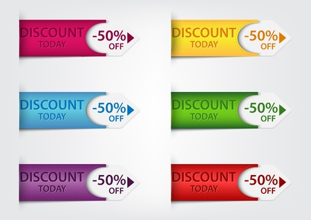 sell out: Vector Illustration Of Special discount price tags  Illustration