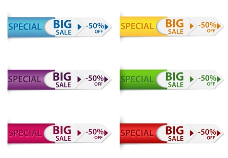 tear off: Vector Illustration Of Special discount price tags  Illustration
