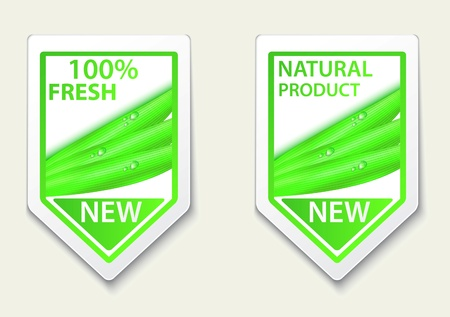 Vector Illustration Of fresh natural labels and stickers  Stock Vector - 20782680