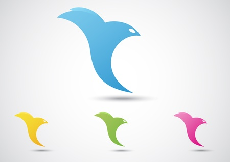tending: Vector Illustration Of Bird Abstract Icon  Business concept