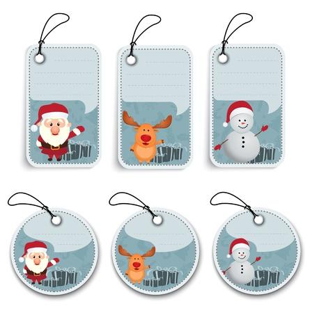 Vector Illustratie Van Kerst Label