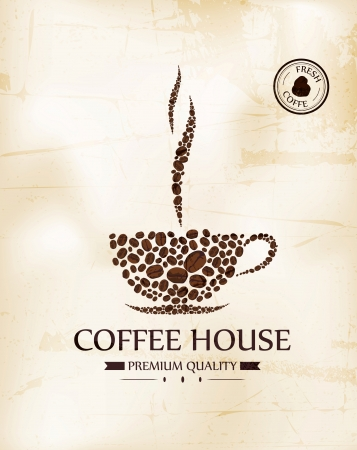 coffeehouse: Vector Illustration of Vintage menu for restaurant, cafe, bar, coffee house