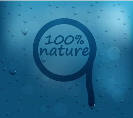 Vector Illustration of Water drops on glass Vector