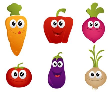 vegetable cartoon: Vector de dibujos animados de verduras