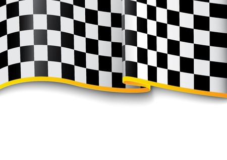 Vector Illustration  Race background  Checkered black and white Stock Vector - 21813158