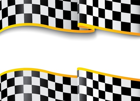 checker flag: Vector Illustration  Race background  Checkered black and white
