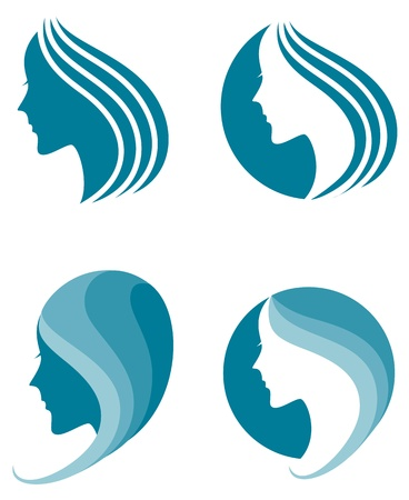 fashion icon  symbol of female beauty Vector