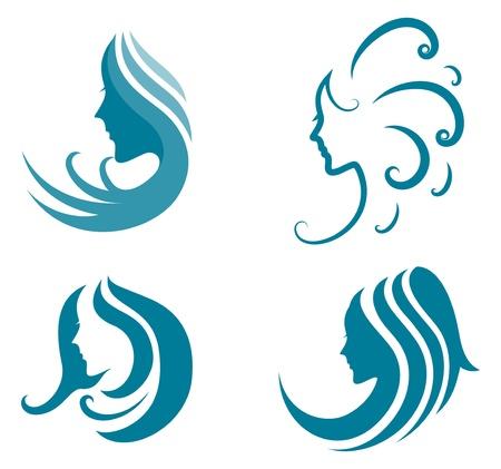 Vektor Illustration av modeikonen symbol för kvinnlig skönhet