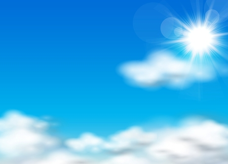 Sun and sky background Vector illustration Vector