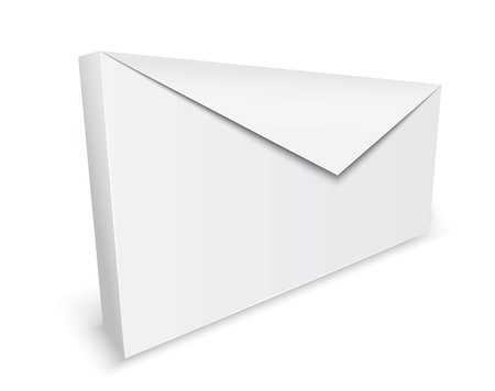 filing tray: Vector realistic envelope background