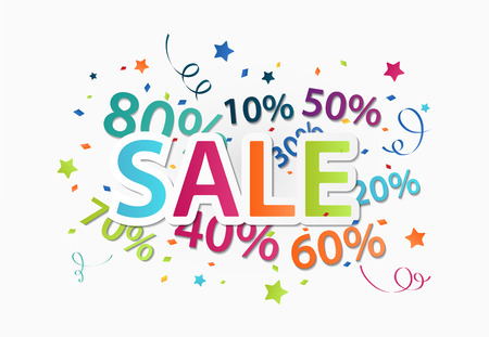 Illustration of Sale celebration with percent discount  Vectores