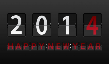 Happy new year on scoreboard Vector