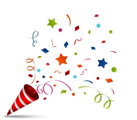 oslava: vybuchující Party Popper