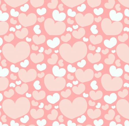Vector Illustration of Seamless pattern with heart shapes