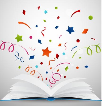 estrella de la vida: libro abierto con la cinta Vectores
