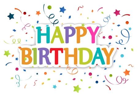 Ilustración de los saludos de cumpleaños Foto de archivo - 25467902