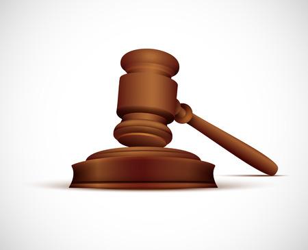 martillo juez: Ilustraci�n del vector del Mazo del juez