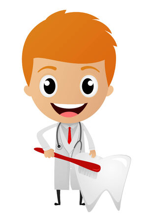 Vector Illustration of Dentist cartoon  Illustration