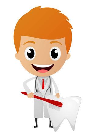 Vector Illustration of Dentist cartoon  Vectores