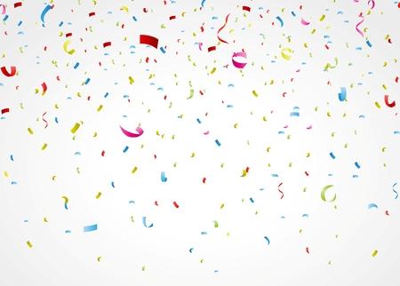 Ilustração Vetorial de confetes coloridos sobre fundo branco Ilustração