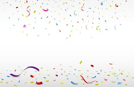 Celebration background with colorful confetti   イラスト・ベクター素材