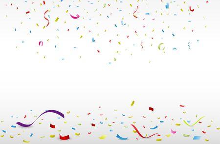 Celebration background with colorful confetti  Illustration