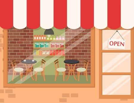 Coffee shop background  Illusztráció