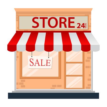 Ikona sklep samodzielnie na białym tle Ilustracje wektorowe