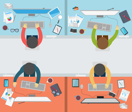 office worker: Vector Office worker activity on flat style Illustration