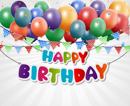Happy Birthday Greeting Card background