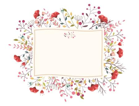 Retro flower for wedding invitation Illustration