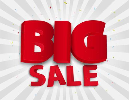 sale icon: Big sale poster with colorful confetti