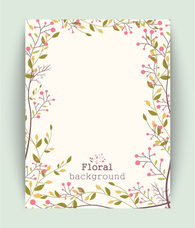 Retro beautiful flower frame