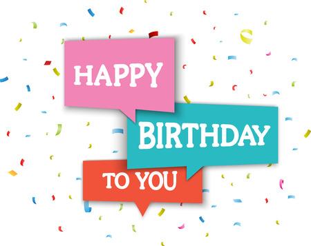 auguri di buon compleanno: Compleanno biglietto di auguri Vettoriali