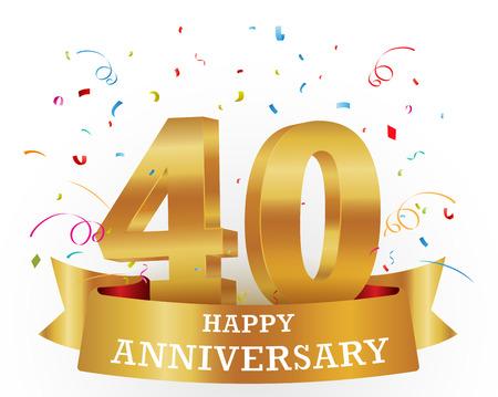 numero diez: Celebración del aniversario con confeti