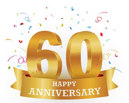 tenth birthday: Anniversary Celebration with confetti