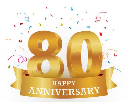 80: Anniversary Celebration with confetti