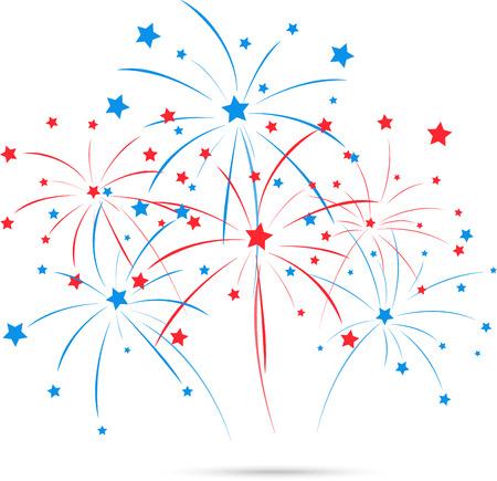 Fuochi d'artificio Independence day Archivio Fotografico - 37493775