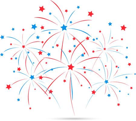 Onafhankelijkheid dag vuurwerk Stock Illustratie
