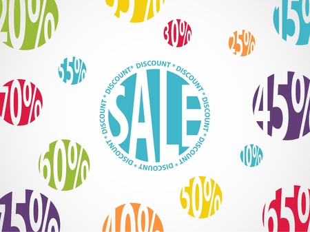 stock price quote: Sale background with discount