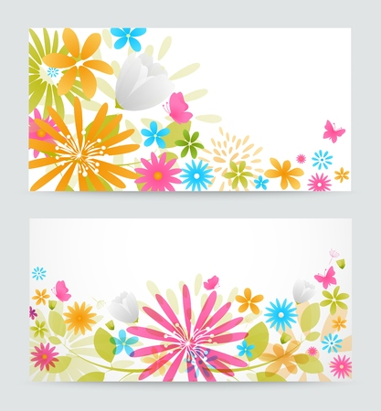 saturate: Fresh floral banner