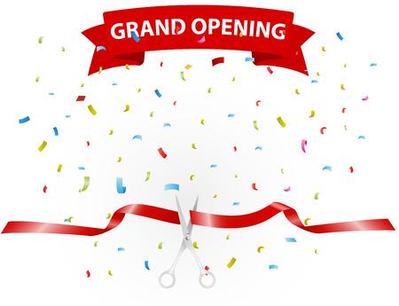 inaugural: Fondo Gran apertura con confeti