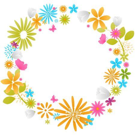 beautiful flower: beautiful flower frame Illustration