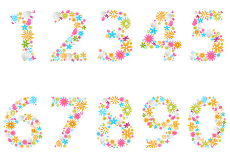 beautiful flower: Beautiful flower numbers