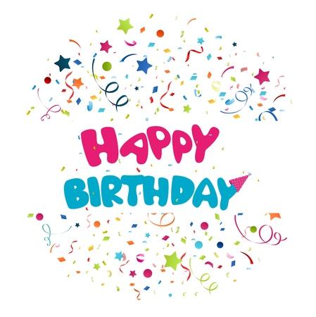 Colorful birthday background Illustration