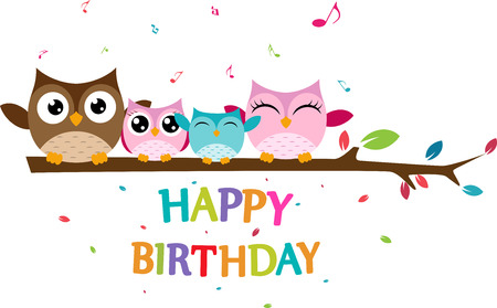 birdsong: Happy owl family celebrate birthday