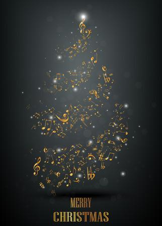 lyric: Musical christmas tree