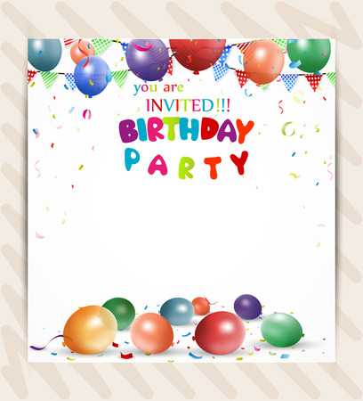Birthday invitation card Illustration